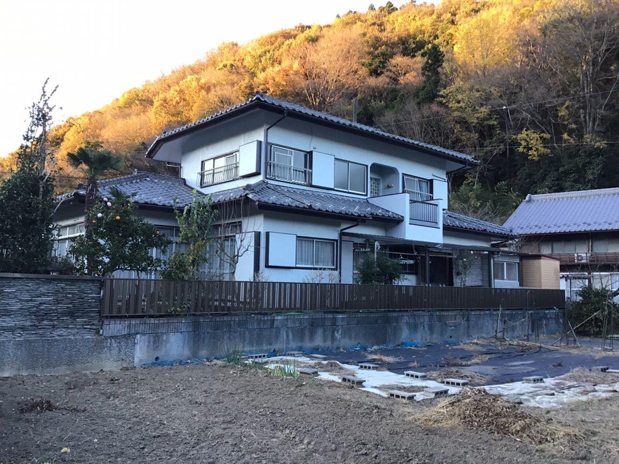 埼玉県秩父郡/和風戸建ての外壁塗り替え(グレー系 ラジカル系塗料)