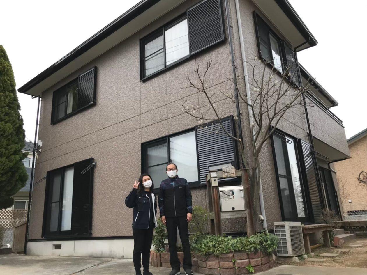 神奈川県平塚市/洋風戸建て 外壁塗り替え(ブラウン系 ラジカル系)
