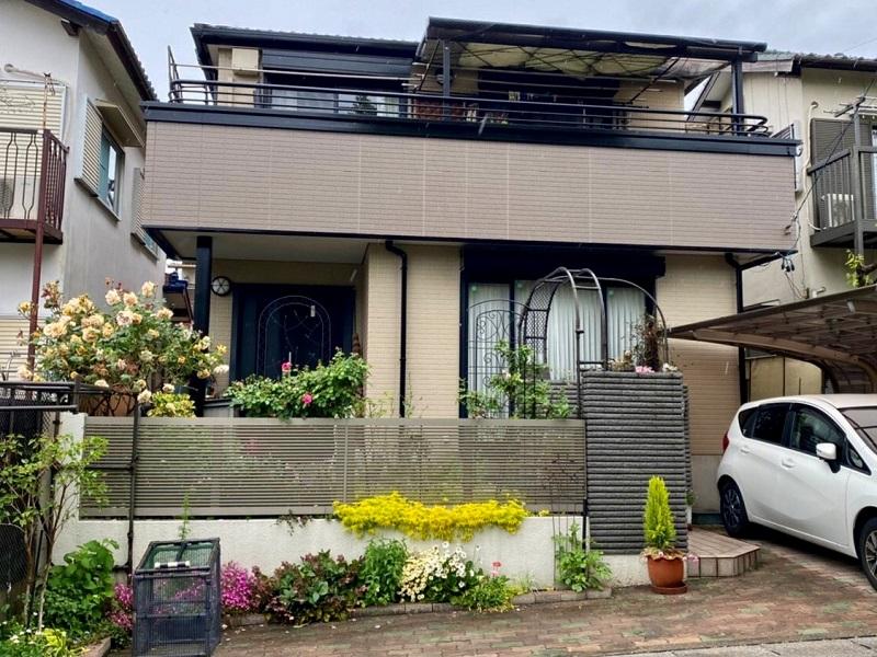 愛知県名古屋市緑区/洋風戸建ての外壁塗り替え(ベージュ・オレンジ ラジカル系)