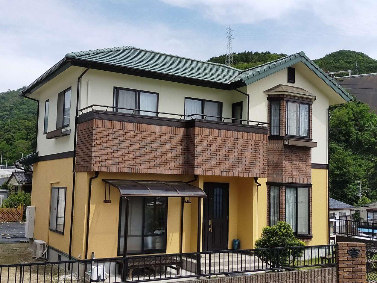 茨城県日立市/洋風戸建て外壁塗り替え(オレンジ・ベージュ ラジカル系)