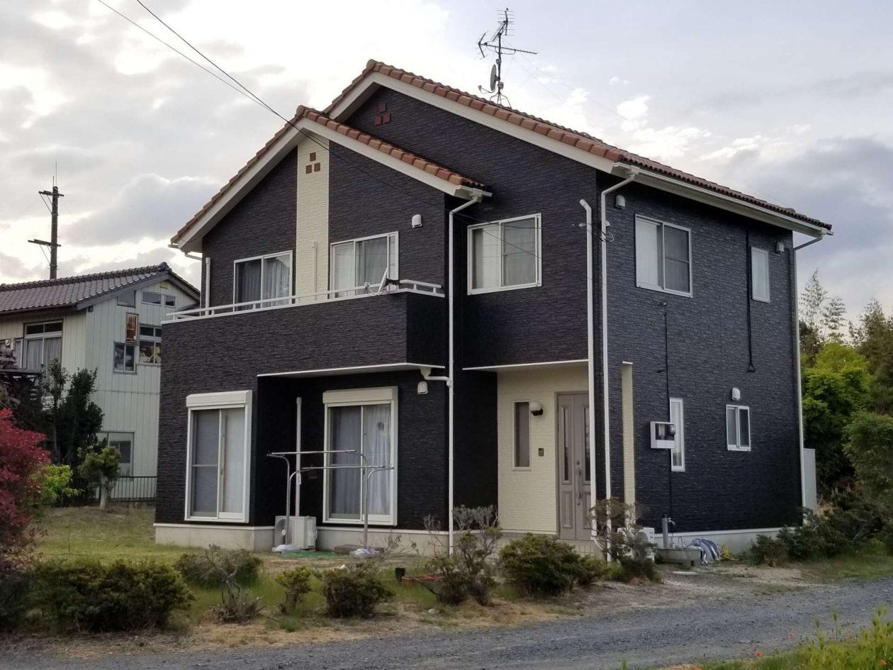 茨城県水戸市/洋風戸建て外壁塗り替え(グレー・ベージュ フッソ系)