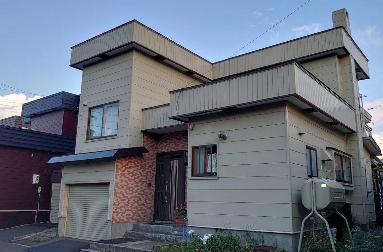 北海道札幌市東区/洋風戸建ての屋根塗り替え(ブラウン フッソ系)